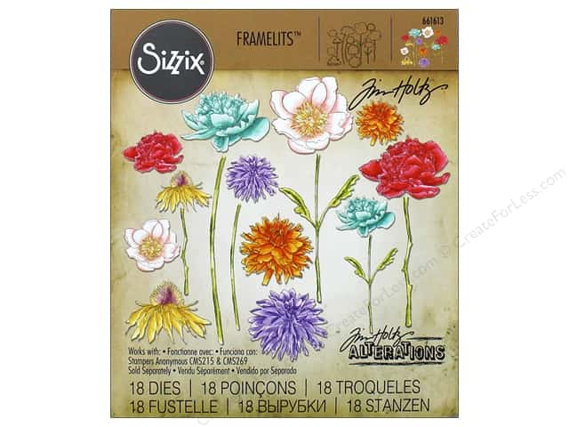 Sizzix Framelits Die Set 18 pc. Flower Garden & Mini Bouquet