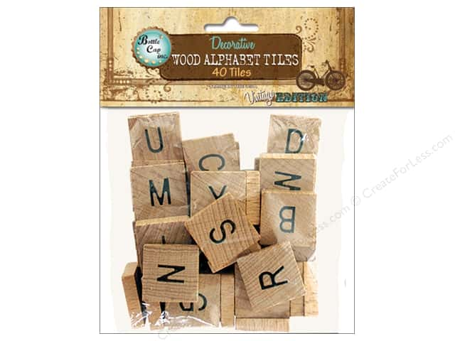 BCI Crafts Salvaged Alphabet Tiles 40pc