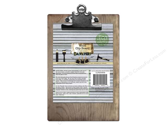 """BCI Crafts Salvaged Clip Board Weathered Wood 6""""x 9"""""""
