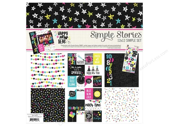"Simple Stories Collection Happy New Year Collection Kit 12""x 12"""