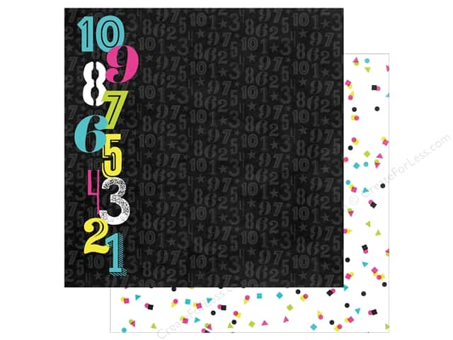 "Simple Stories Collection Happy New Year Paper 12""x 12"" Countdown (25 pieces)"