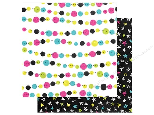 """Simple Stories Collection Happy New Year Paper 12""""x 12"""" Par-tay (25 pieces)"""