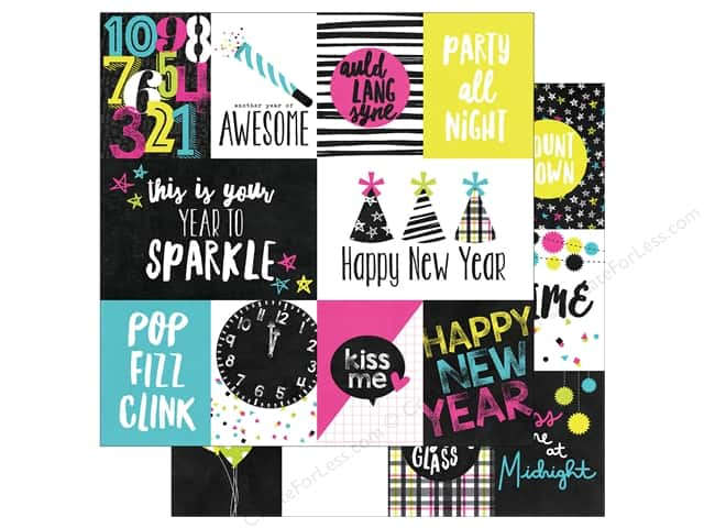 """Simple Stories Collection Happy New Year Paper 12""""x 12"""" Elements (25 pieces)"""