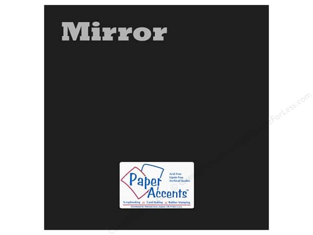 Paper Accents Cardstock 12 x 12 in. Mirror Black 5 pc.