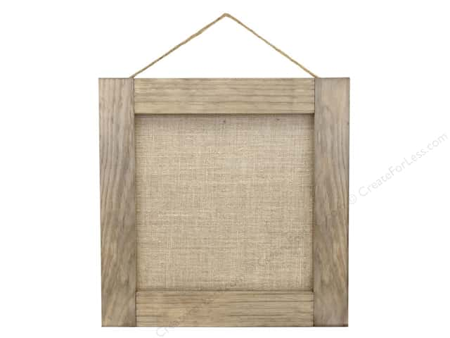 "BCI Crafts Salvaged Wood Frame 16""x 16"" Weathered With Burlap"