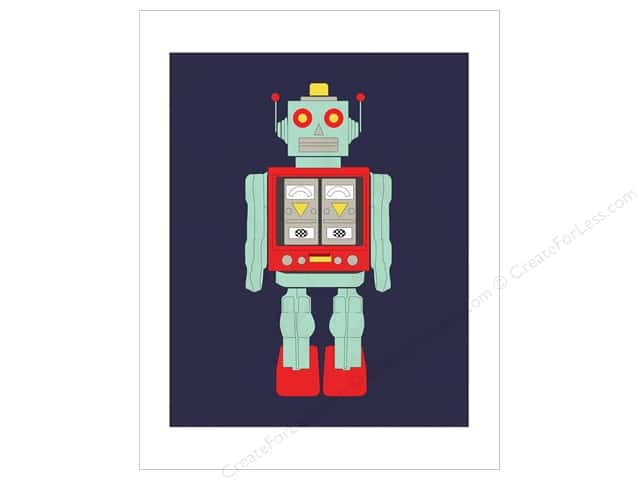 "Carta Bella Collection Space Academy Art Print 11""x 14"" Robot"