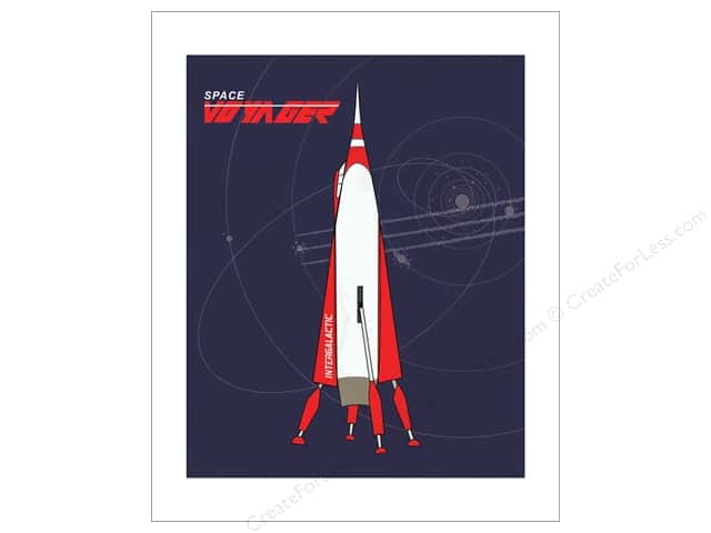 "Carta Bella Collection Space Academy Art Print 8""x 10"" Space Voyager"