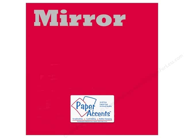 Paper Accents Cardstock 12 x 12 in. Mirror Red 5 pc.