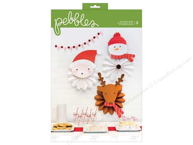 Pebbles Collection Holly Jolly Character Rosettes