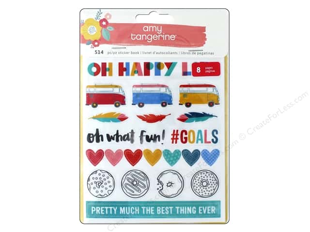 American Crafts Sticker Book Amy Tangerine Oh Happy Life
