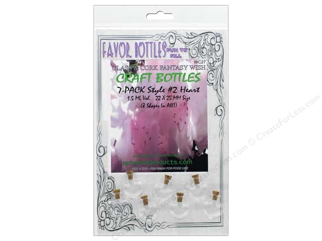 Outwest Products Wish Bottle 1.5ml Heart 7pc