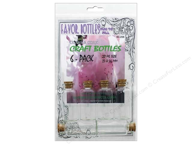 Outwest Products Bitty Bottle 20ml 27x56mm 6pc