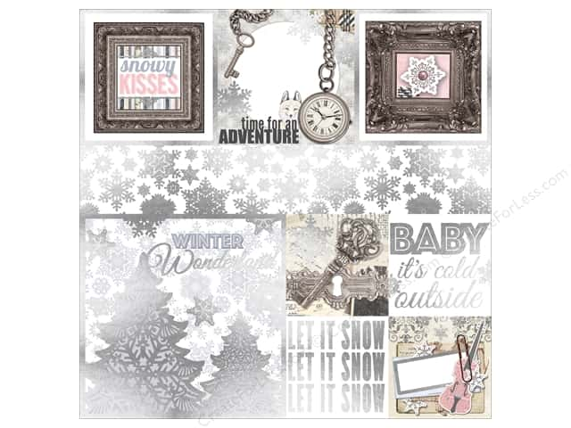 Bo Bunny 12 x 12 in. Vellum Winter Wishes Foil (12 pieces)