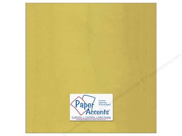 Paper Accents Cardstock 12 x 12 in. Glossy Gold 5 pc.