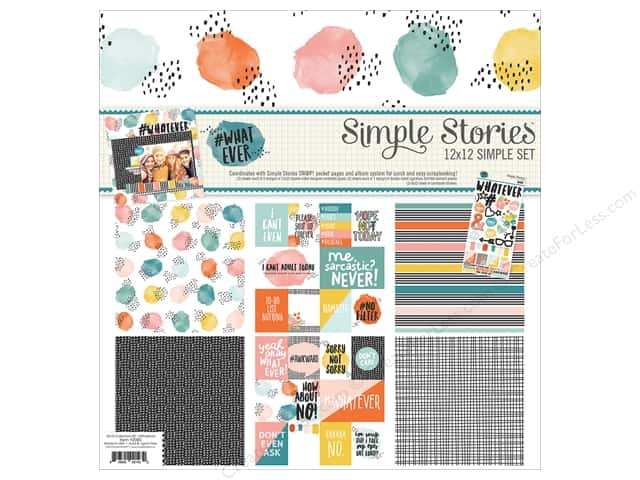 """Simple Stories Collection #Whatever Collection Kit 12""""x 12"""""""