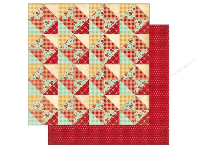 Bo Bunny 12 x 12 in. Paper Kiss The Cook Quilt (25 pieces)