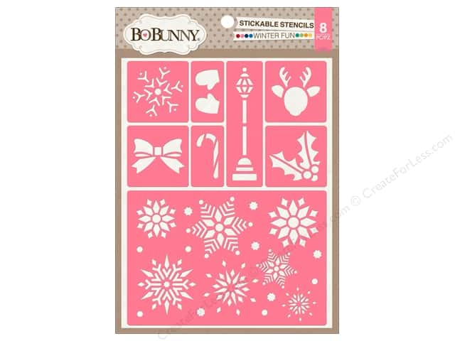 Bo Bunny Stickable Stencils Winter Fun