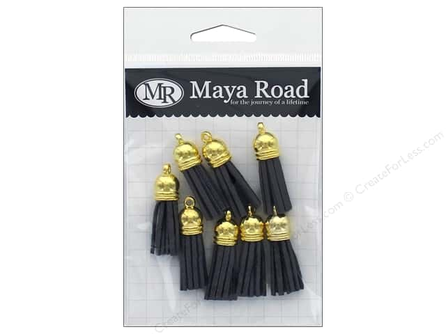 Maya Road Products Vintage Tassels Gold Cap Fog Grey