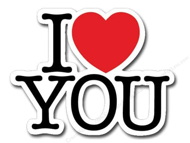 Paper House Diecut Blank Card I Love You