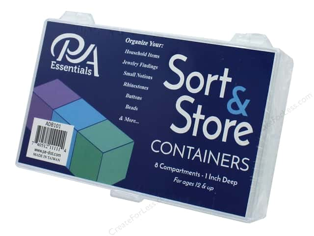 PA Essentials Sort & Store Organizer Box - 8 Compartment