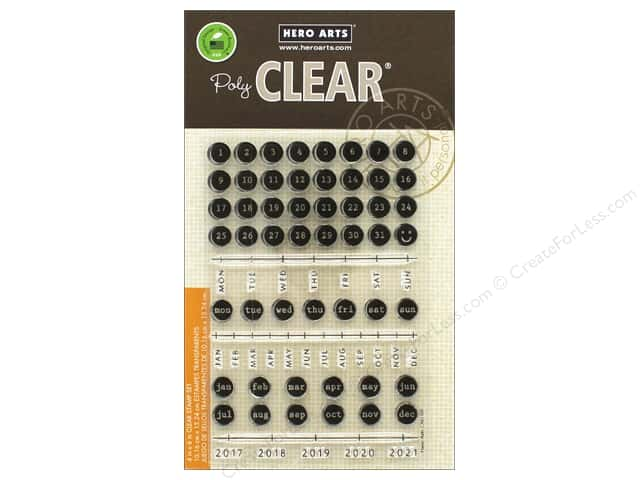 Hero Arts Poly Clear Stamp Typewriter Keys Journaling