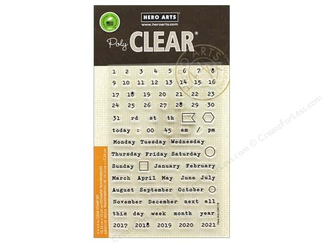 Hero Arts Poly Clear Stamp Calendar Pieces