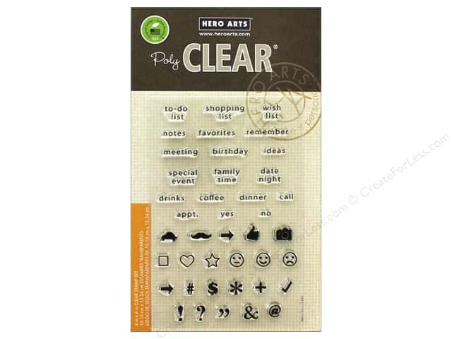 Hero Arts Poly Clear Stamp To Do List
