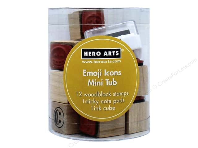 Hero Arts Rubber Stamp Mini Tub Emoji Icons