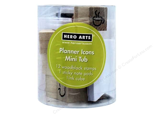 Hero Arts Rubber Stamp Mini Tub Planner Icons
