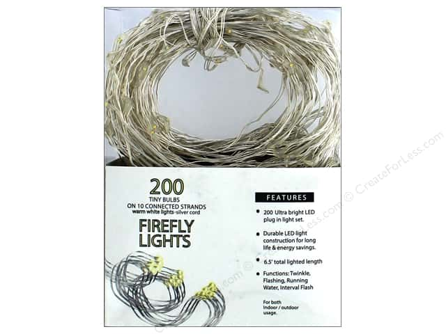 Sierra Pacific Crafts Lights Firefly LED 200ct Warm White Silver Cord
