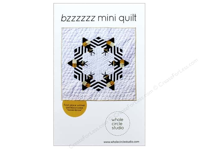 Whole Circle Studio Bzzzzzz Mini Quilt Pattern