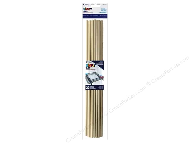 Woodsies Wood Dowels 12 x 3/16 in. 20 pc.