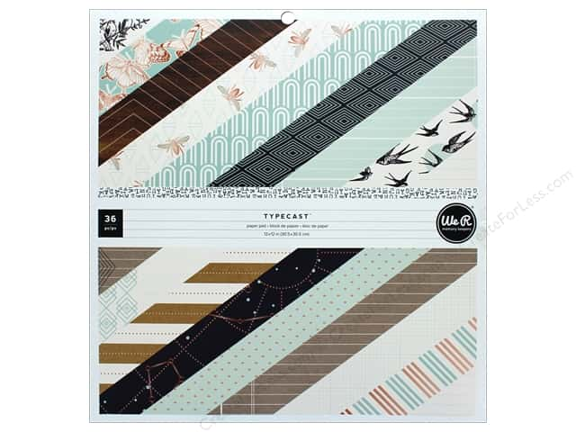 """We R Memory Collection Typecast Paper Pad 12""""x 12"""""""