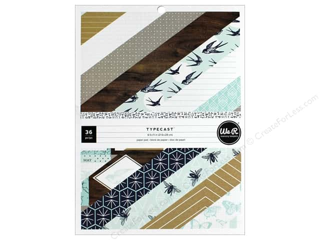 """We R Memory Collection Typecast Paper Pad 8.5""""x 11"""""""
