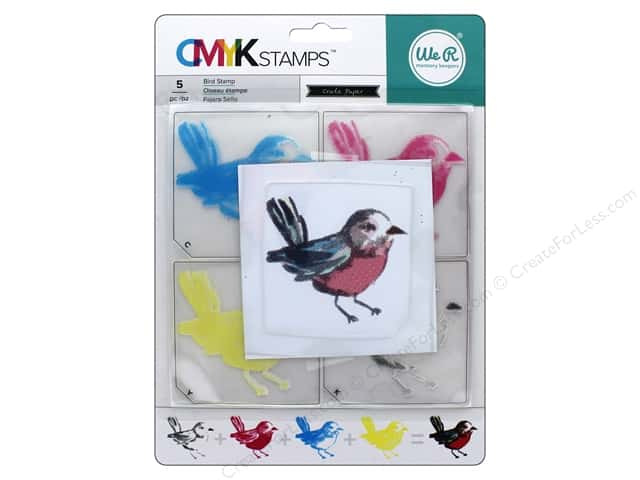 We R Memory Stamp CMYK Bird