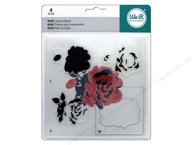 We R Memory Keepers Layered Stamp Rose