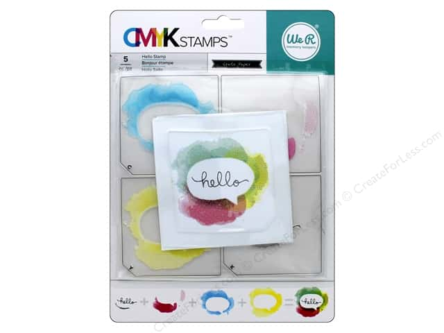 We R Memory Stamp CMYK Hello