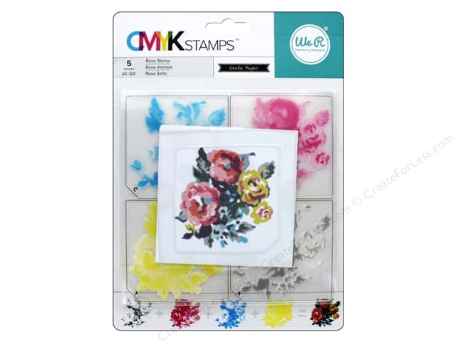 We R Memory Keepers CMYK Stamps Rose