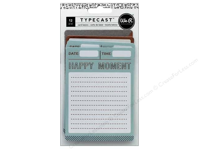 We R Memory Keepers Typecast Card Set