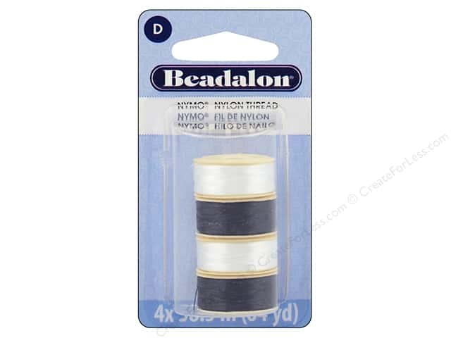 Beadalon Nymo Thread Size D 4 pc. Variety Pack Black & White