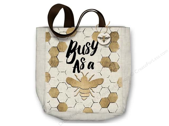 "Molly & Rex Bag Canvas Tote 15""x 16"" Busy Bee"