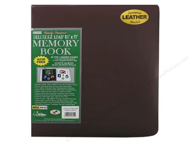 Pioneer Scrapbook Album 8 1/2 x 11 in. Leather Burgundy
