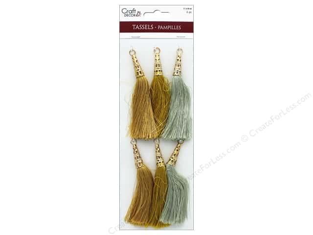 Mulitcraft Embellishments Tassels 8cm Metallique 6pc