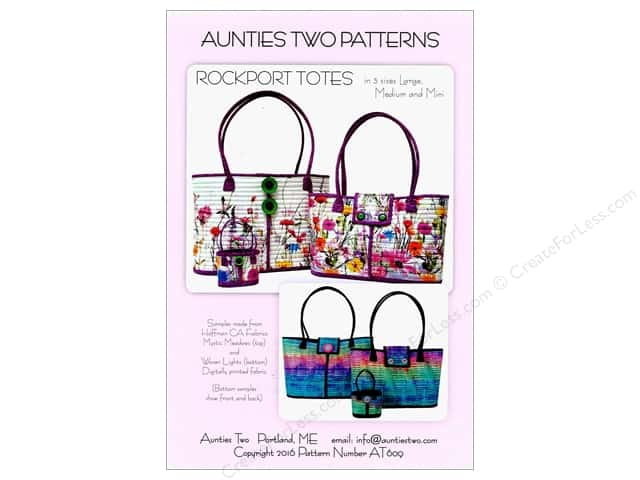 Aunties Two Rockport Totes Pattern