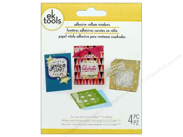 EK Tool Adhesive Vellum Square Window Pack