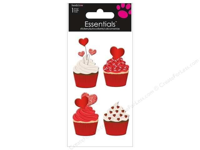 SandyLion Sticker Essentials Valentine Cupcakes
