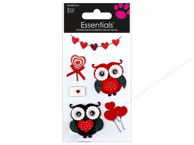 SandyLion Sticker Essentials Love Owls