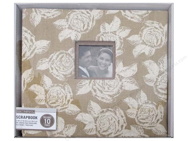 K & Company 12 x 12 in. Scrapbook Window Album Burlap Floral