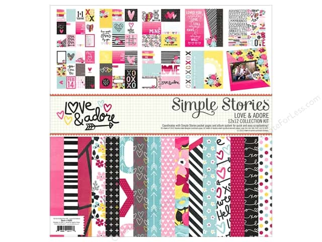 "Simple Stories Collection Love & Adore Collection Kit 12""x 12"""