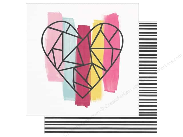 """Simple Stories Collection Love & Adore Paper 12""""x 12"""" With All My Heart (25 pieces)"""